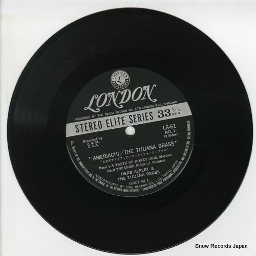 ALPERT, HERB, AND THE TIJUANA BRASS ameriachi/ the tijuana brass LS61 - disc