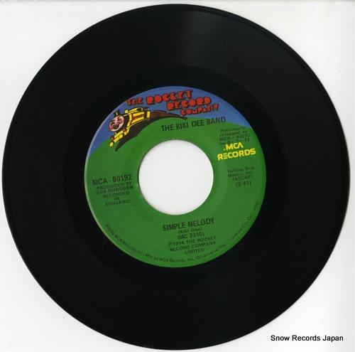 KIKI DEE BAND, THE simple melody MCA-60192 - disc