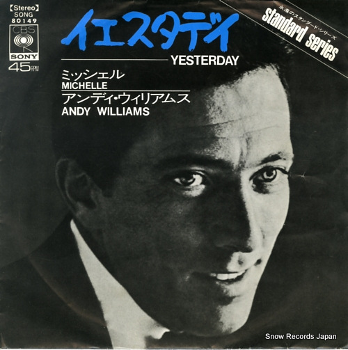 WILLIAMS, ANDY yesterday SONG80149 - front cover