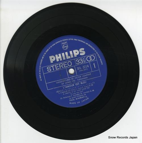 MAURIAT, PAUL l'amour est bleu SFL-3214 - disc