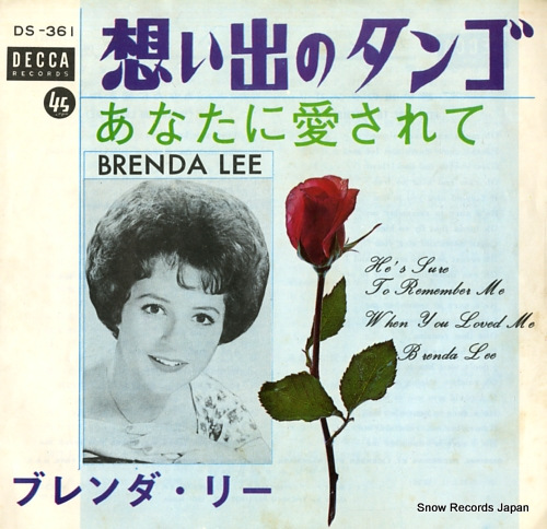 LEE, BRENDA he's sure to remember me DS-361 - front cover