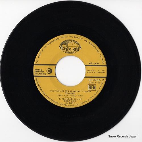 SOLO, BOBBY / MILVA zingara / un sorriso HIT-1616 - disc