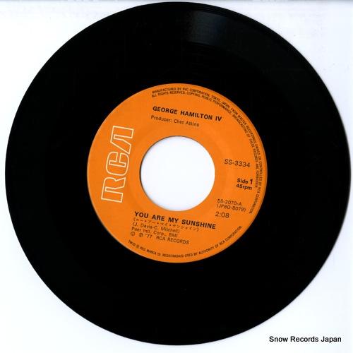 HAMILTON, IV JEORGE you are my sunsine SS-3334 - disc