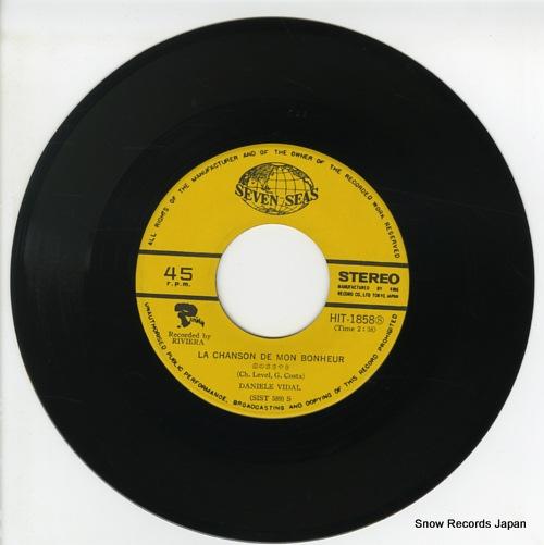 VIDAL, DANIELE la chanson de mon bonheur HIT-1858 - disc