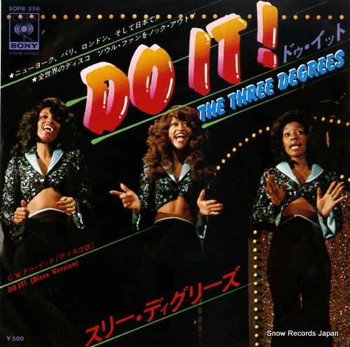 THREE DEGREES, THE do it! SOPB356 - front cover