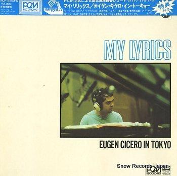 CICERO, EUGEN my lyrics