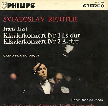 RICHTER, SVIATOSLAV liszt; concerto no.1
