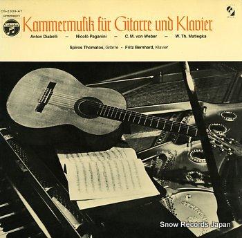 THOMATOS, SPIROS kammermusik fur gitarre und klavier