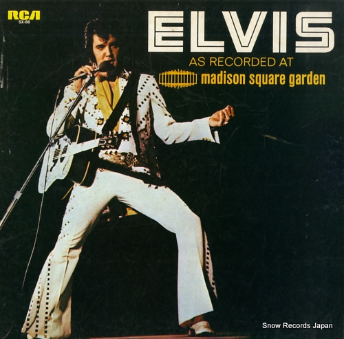 PRESLEY, ELVIS as recorded at madison square garden