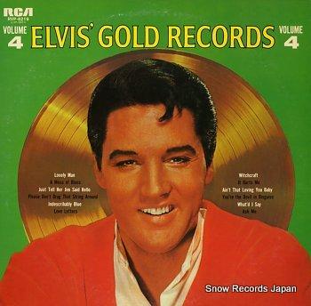 PRESLEY, ELVIS elvis' gold records volume4