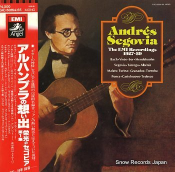 SEGOVIA, ANDRES emi recordings, the 1927-39