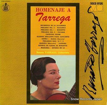 TARRAGO, RENATA homenaje a tarrega