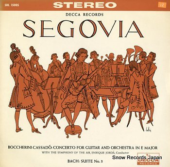 SEGOVIA, ANDRES boccherini - cassado; concerto for guitar and orchestra in e major