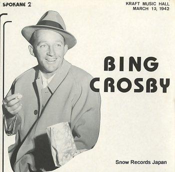 CROSBY, BING kraft music hall march 12, 1942