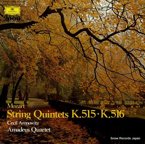 AMADEUS QUARTET mozart; string quintets k.515 k.516