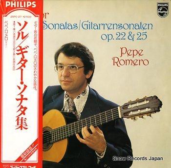 ROMERO, PEPE sor; guitar sonatas/gitarrensonataten op..22 & 25