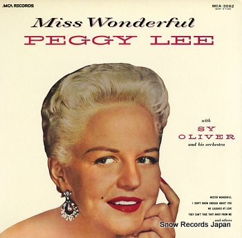 LEE, PEGGY miss wonderful