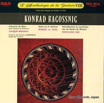 RAGOSSNIG, KONRAD l'anthologie de la guitare viii