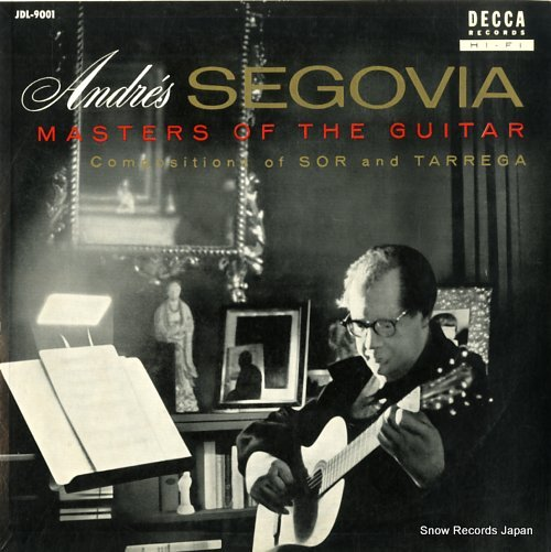 SEGOVIA, ANDRES masters of the guitar