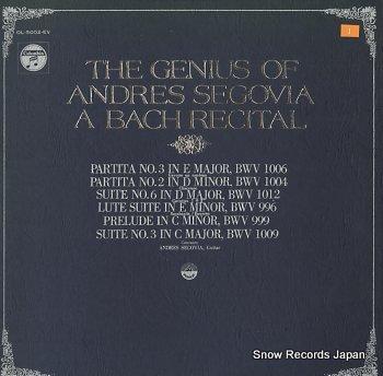 SEGOVIA, ANDRES bach recital, a