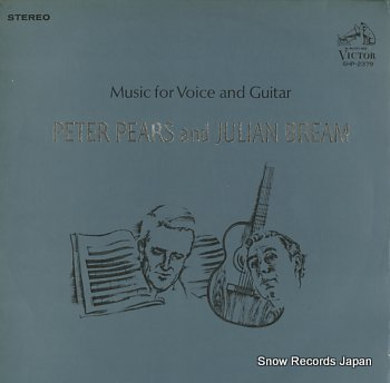 PEARS, PETER AND JULIAN BREAM music for voice and guita