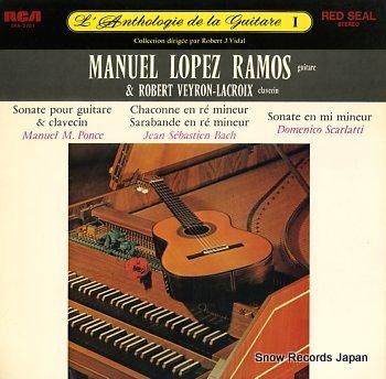 LOPEZ RAMOS, MANUEL l'anthologie de la guitare i