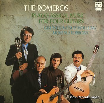 ROMEROS, THE play classical music for four guitars