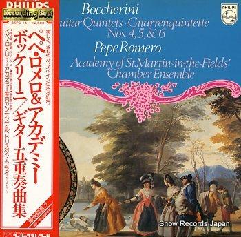 ROMERO, PEPE boccherini, luigi; guitar quintets