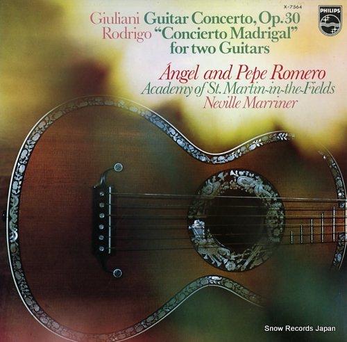ROMERO, PEPE giuliani, mauro; guitar concerto in a major, p.30