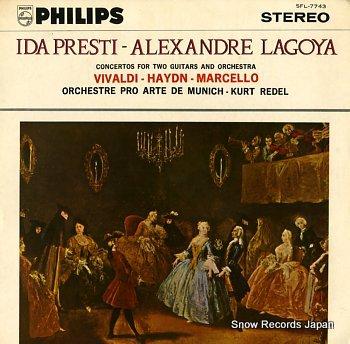 PRESTI, IDA & ALEXANDRE LAGOYA concertos pour deux guitares et cordes