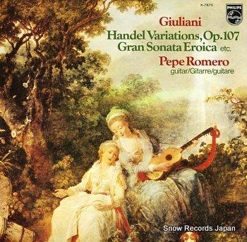 ROMERO, PEPE giuliani; handel variations, op.107