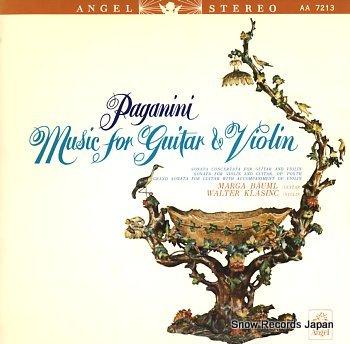 BAUML, MARGA & WALTER KLASINC paganini; music for guitar & violin
