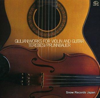 TEREBESI, GYORGY & SONJA PRUNNBAUER giuliani; works for violin and guitar