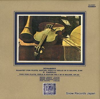 DEBOST, MICHEL schubert; quartet for flute, guitar, viola & 'cello in g major, d.96