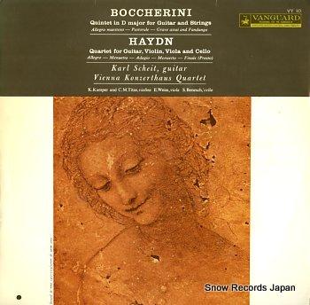 SCHEIT, KARL boccherini; quintet in d major for guitar and strngs