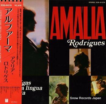 RODRIGUES, AMALIA cantigas numa lingua antiga