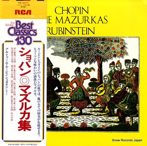 RUBINSTEIN, ARTUR chopin; the mazurkas