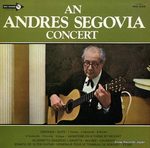 SEGOVIA, ANDRES concert, an