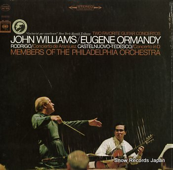 WILLIAMS, JOHN / EUGENE ORMANDY rodrigo; concierto de aranjuez