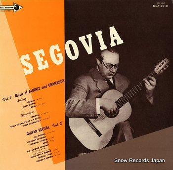 SEGOVIA, ANDRES guitar recital