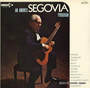 SEGOVIA, ANDRES program