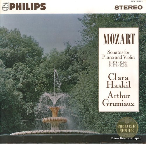GRUMIAUX, ARTHUR mozart; sonatas for piano and violin