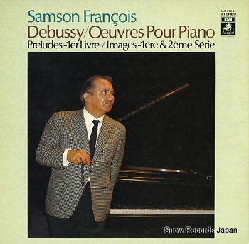 FRANCOIS, SAMSON debussy; oeuvres pour piano
