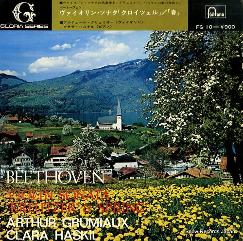 GRUMIAUX, ARTHUR beethoven; violin sonato no.9 & 5