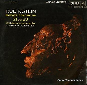 RUBINSTEIN, ARTUR mozart; concertos no.21 & 23