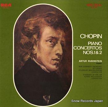 RUBINSTEIN, ARTUR chopin; piano concertos nos.1&2