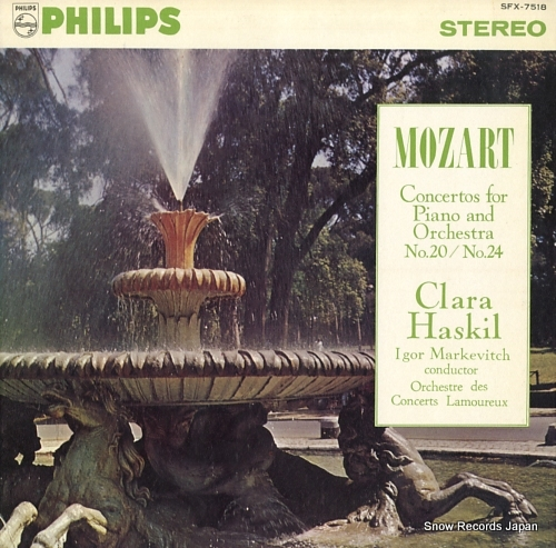 HASKIL, CLARA mozart; concertos for piano and orchestra no.20 & no.24