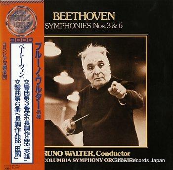 WALTER, BRUNO beethoven; symphonies nos.3&6