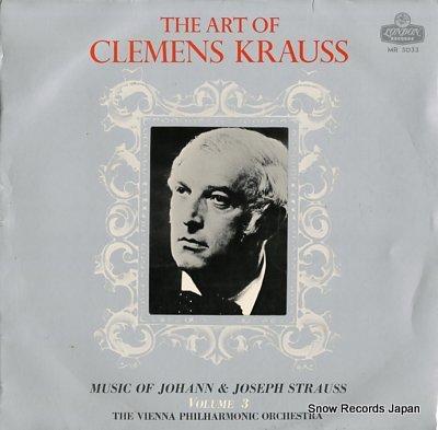 KRAUSS, CLEMENS art of clemens krauss, the / vol.3