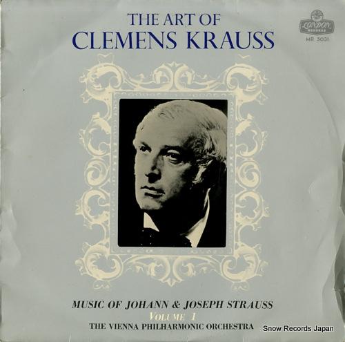 KRAUSS, CLEMENS art of clemens krauss, the / vol.1
